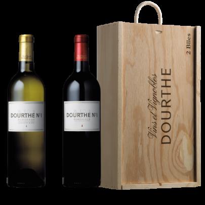 Dourthe N°1 Blanc & Rouge Holzkiste Bordeaux AOC(2x0,75 Liter)