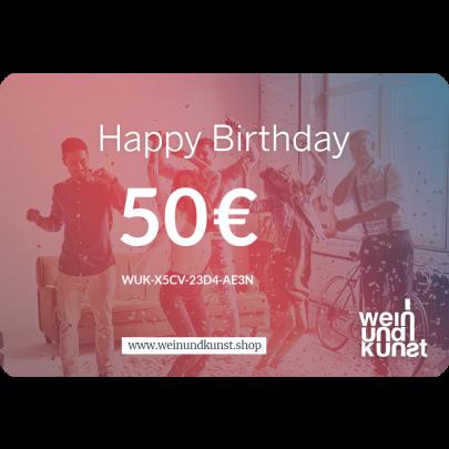 Digitale Geschenkkarte Happy Birthday