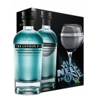 The London N°1 Original Blue Gin  Geschenk-Set mit Glas