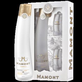 Mamont Vodka Sibirian  Geschenkpackung inkl. 2x10cl Gläsern