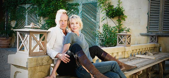 Il Palagio co Sting e Trudie Styler