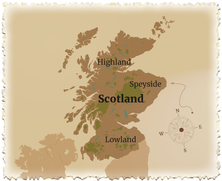 Schottland Karte Whisky.Whiskymonat
